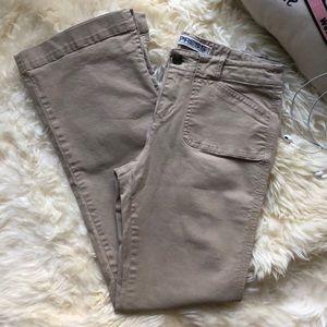 Long Wide Straight Khaki Women Pants